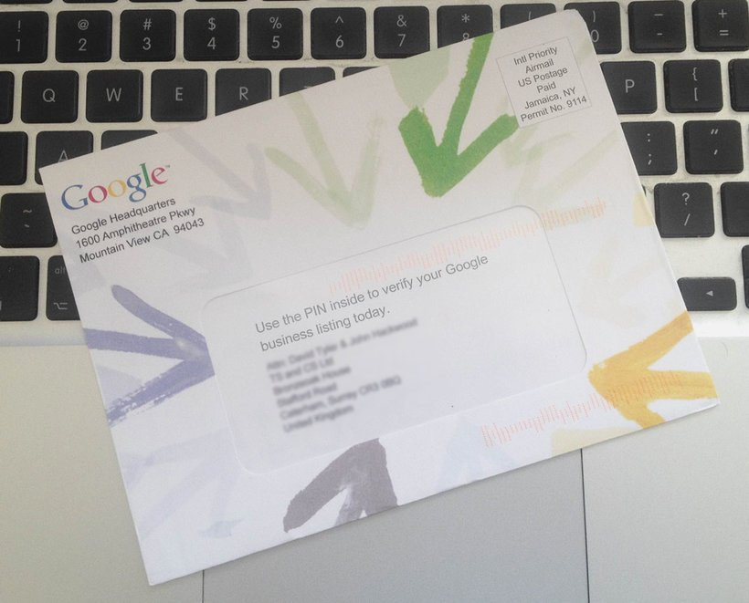 Courrier de confirmation Google